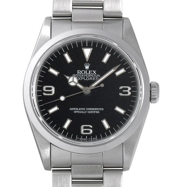 【48回払いまで無金利】ロレックス エクスプローラーI S番 14270 メンズ(0063ROAU0218)【中古】【腕時計】【送料無料】