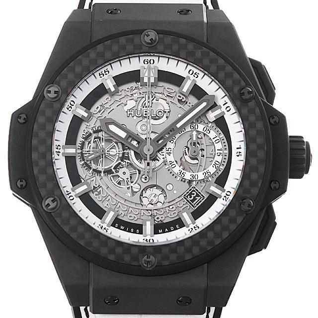 【48回払いまで無金利】ウブロ キングパワー ウニコ ブラック アンド ホワイト 701.CQ.0112.HR メンズ(006XHBAU0131)【中古】【腕時計】【送料無料】