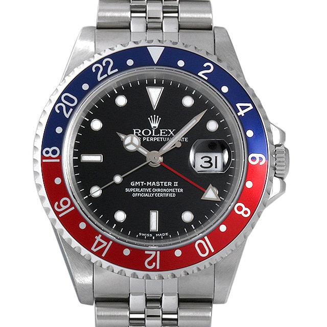 【48回払いまで無金利】ロレックス GMTマスターII 赤青ベゼル Y番 16710 メンズ(006XROAU0746)【中古】【腕時計】【送料無料】