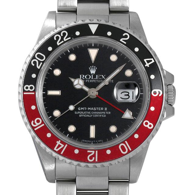 【48回払いまで無金利】ロレックス GMTマスターII 赤黒ベゼル ファットレディ R番 16760 メンズ(006XROAU0762)【中古】【腕時計】【送料無料】