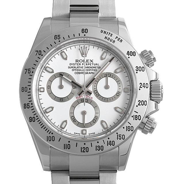 【48回払いまで無金利】ロレックス コスモグラフ デイトナ ランダムシリアル 116520 ホワイト/新クラスプ メンズ(006XROAU0770)【中古】【腕時計】【送料無料】
