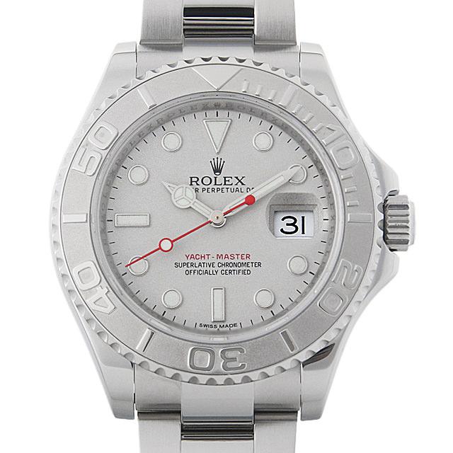 【48回払いまで無金利】ロレックス ヨットマスター ロレジウム ランダムシリアル 116622 シルバー メンズ(006XROAU0784)【中古】【腕時計】【送料無料】