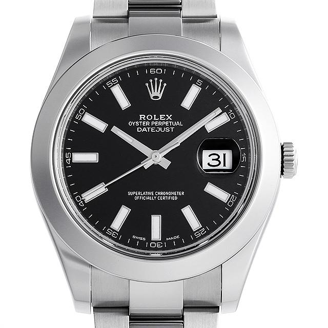 【48回払いまで無金利】ロレックス デイトジャストII ランダムシリアル 116300 ブラック/バー メンズ(006XROAU0796)【中古】【腕時計】【送料無料】