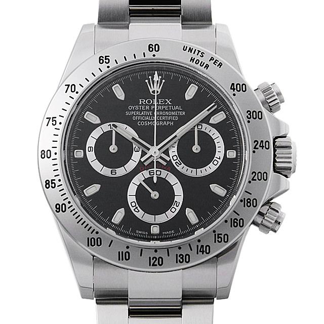 【48回払いまで無金利】ロレックス コスモグラフ デイトナ ランダムシリアル 116520 ブラック メンズ(006XROAU0812)【中古】【腕時計】【送料無料】
