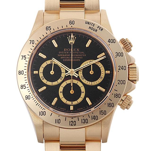【48回払いまで無金利】ロレックス コスモグラフ デイトナ N番 16528 ブラック メンズ(0087ROAU0142)【中古】【腕時計】【送料無料】