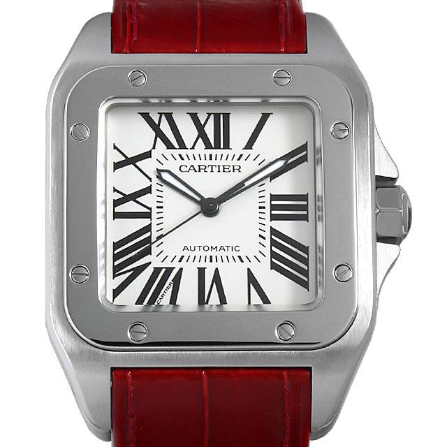 【48回払いまで無金利】カルティエ サントス100 LM 初期型 W20076X8 メンズ(008WCAAU0120)【中古】【腕時計】【送料無料】