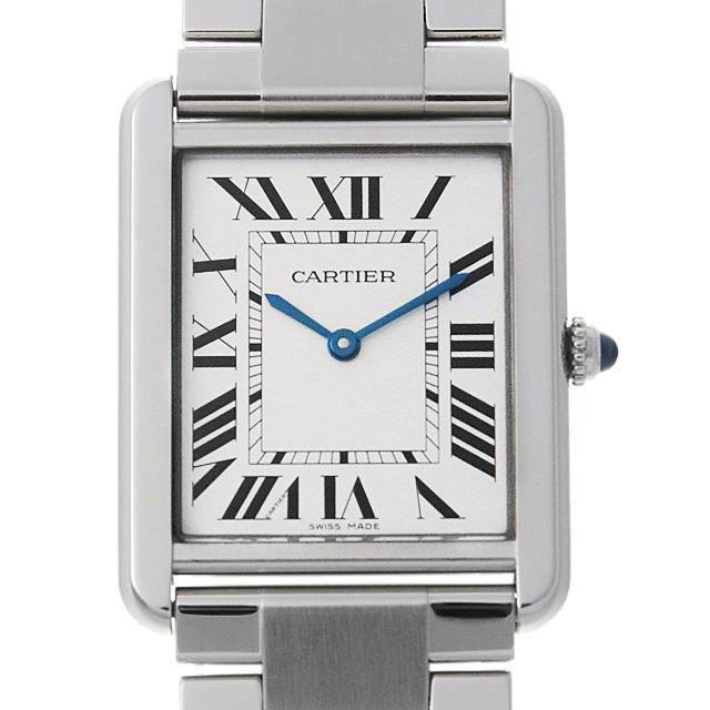 【48回払いまで無金利】カルティエ タンクソロ LM W5200014 メンズ(009VCAAU0105)【中古】【腕時計】【送料無料】