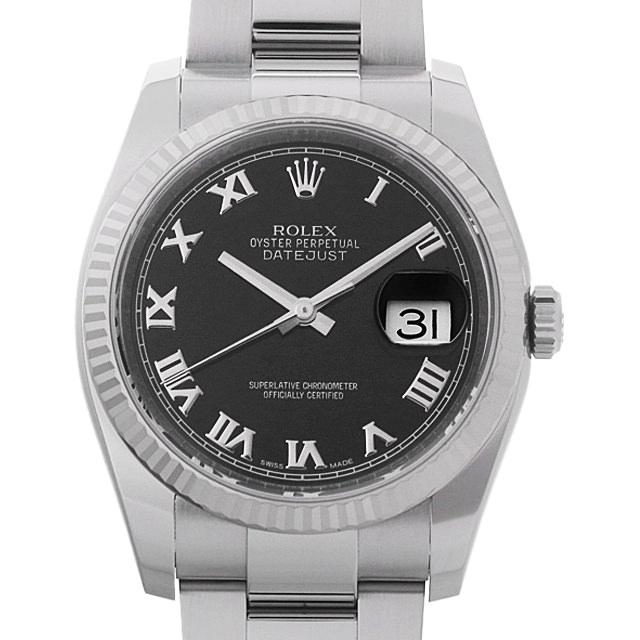【48回払いまで無金利】ロレックス デイトジャスト ランダムシリアル 116234 ブラック/ローマ メンズ(09A7ROAU0002)【中古】【腕時計】【送料無料】