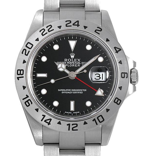 【48回払いまで無金利】ロレックス エクスプローラーII P番 16570 ブラック メンズ(0ANUROAU0007)【中古】【腕時計】【送料無料】