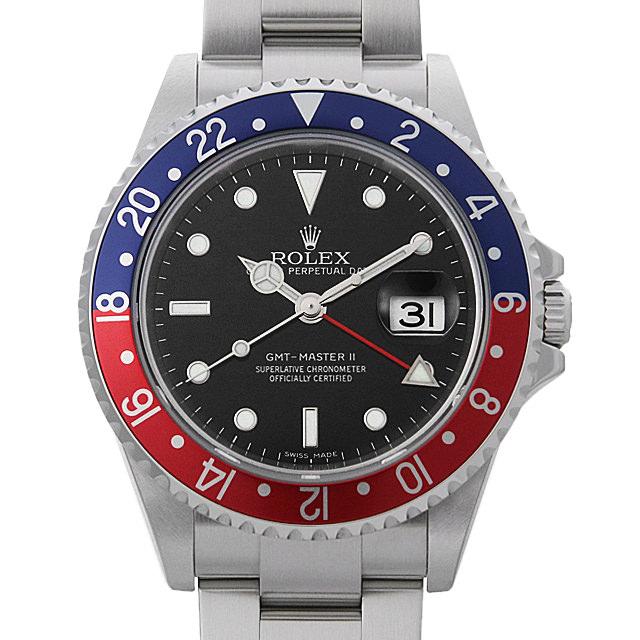 【48回払いまで無金利】ロレックス GMTマスターII 赤青ベゼル Cal.3185 Z番 16710 スティックダイアル メンズ(0I9HROAU0001)【中古】【腕時計】【送料無料】