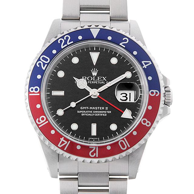 【48回払いまで無金利】ロレックス GMTマスターII 赤青ベゼル U番 16710 メンズ(0IJRROAU0001)【中古】【腕時計】【送料無料】