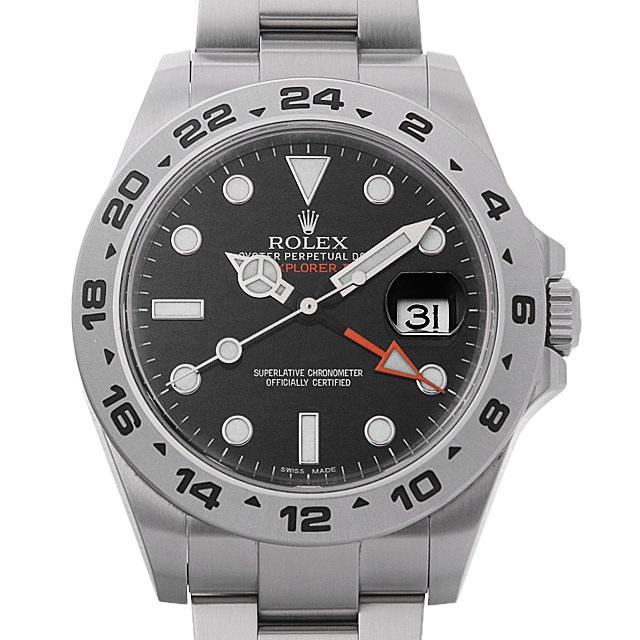 【48回払いまで無金利】ロレックス エクスプローラーII 216570 ブラック メンズ(0IP8ROAU0002)【中古】【腕時計】【送料無料】