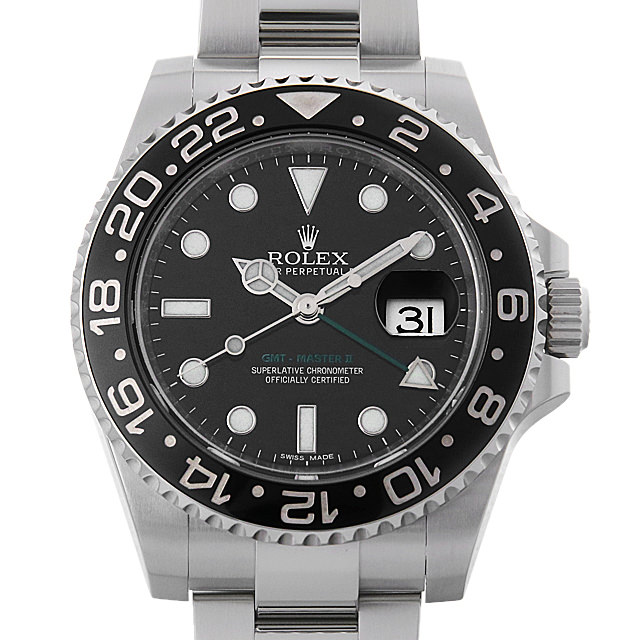 【48回払いまで無金利】ロレックス GMTマスターII ランダムシリアル 116710LN メンズ(0IZCROAU0001)【中古】【腕時計】【送料無料】