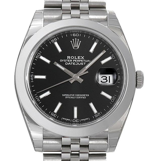 【48回払いまで無金利】ロレックス デイトジャスト41 ジュビリーブレス 126300 ブラック メンズ(0IOVROAN0001)【新品】【腕時計】【送料無料】