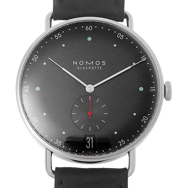 【48回払いまで無金利】ノモス メトロ38 デイト アーバングレー MT1B4UG2(1103) メンズ(0671NOAN0067)【新品】【腕時計】【送料無料】