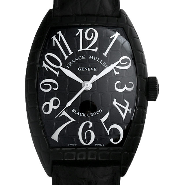 【48回払いまで無金利】フランクミュラー トノーカーベックス ブラッククロコ 8880SC BLK CRO AC メンズ(001HFRAU0094)【中古】【腕時計】【送料無料】