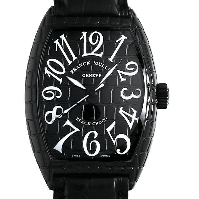【48回払いまで無金利】フランクミュラー トノーカーベックス ブラッククロコ 7880SC BLK CRO メンズ(001HFRAU0098)【中古】【腕時計】【送料無料】