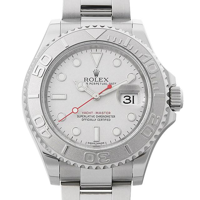 【48回払いまで無金利】ロレックス ヨットマスター ロレジウム 116622 シルバー メンズ(001HROAU0200)【中古】【腕時計】【送料無料】