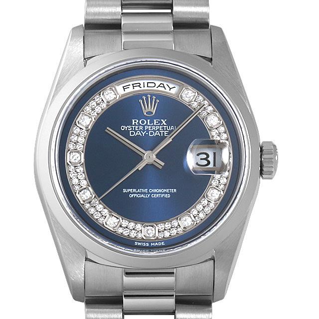 【48回払いまで無金利】ロレックス デイデイト ミリヤード A番 18206MG ブルー メンズ(001HROAU0218)【中古】【腕時計】【送料無料】