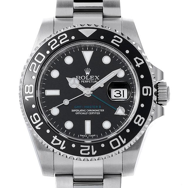 【48回払いまで無金利】ロレックス GMTマスターII ランダムシリアル 116710LN メンズ(0050ROAU0074)【中古】【腕時計】【送料無料】