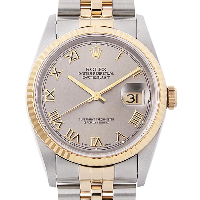 【48回払いまで無金利】ロレックス デイトジャスト X番 16233 グレー/ローマ メンズ(0063ROAU0233)【中古】【腕時計】【送料無料】