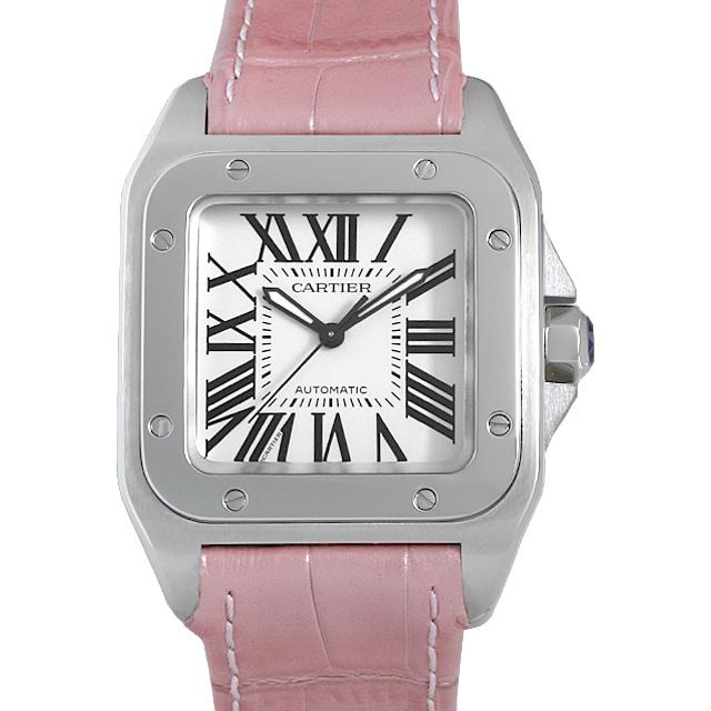 【48回払いまで無金利】カルティエ サントス100 MM W20126X8 レディース(006XCAAU0167)【中古】【腕時計】【送料無料】