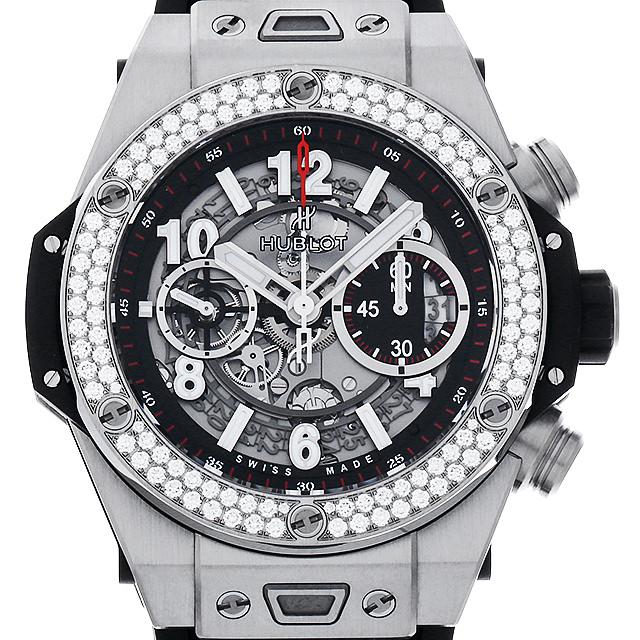 【48回払いまで無金利】ウブロ ビッグバン ウニコ チタニウム ダイヤモンド 411.NX.1170.RX.1104 メンズ(006XHBAU0111)【中古】【腕時計】【送料無料】