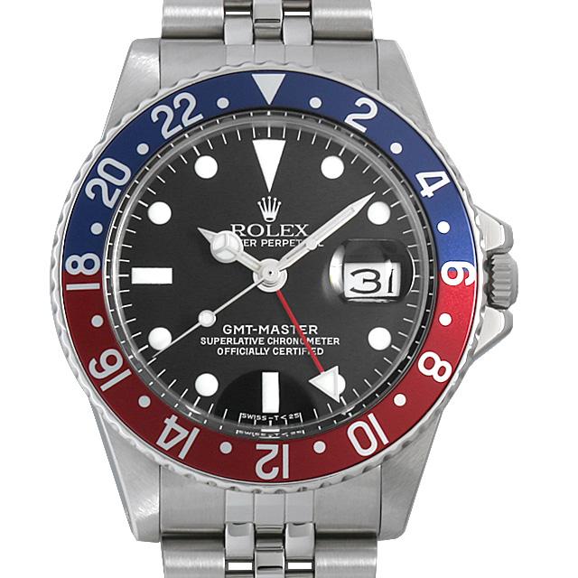 【48回払いまで無金利】ロレックス GMTマスター 赤青ベゼル Cal.1570 21番 1675 フチなし メンズ(006XROAA0109)【アンティーク】【腕時計】【送料無料】