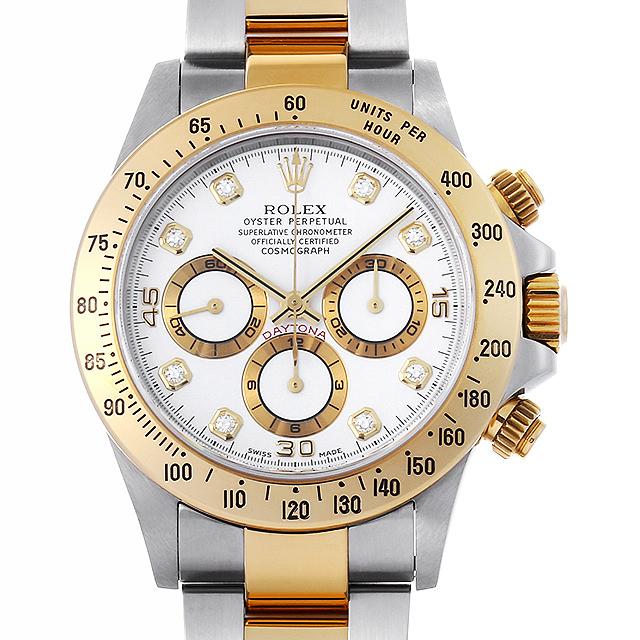 【48回払いまで無金利】ロレックス コスモグラフ デイトナ 8Pダイヤ A番 16523G ホワイト メンズ(006XROAU0822)【中古】【腕時計】【送料無料】