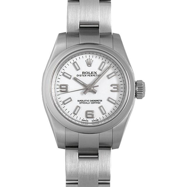 【48回払いまで無金利】ロレックス オイスターパーペチュアル ランダムシリアル 176200 ホワイト/369ホワイトバー レディース(006XROAU0833)【中古】【腕時計】【送料無料】