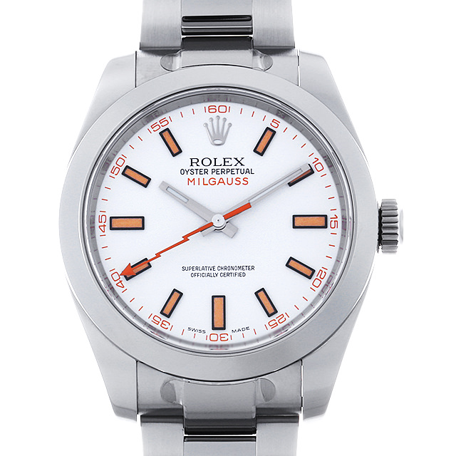 【48回払いまで無金利】ロレックス ミルガウス ランダムシリアル 116400 ホワイト メンズ(006XROAU0848)【中古】【腕時計】【送料無料】