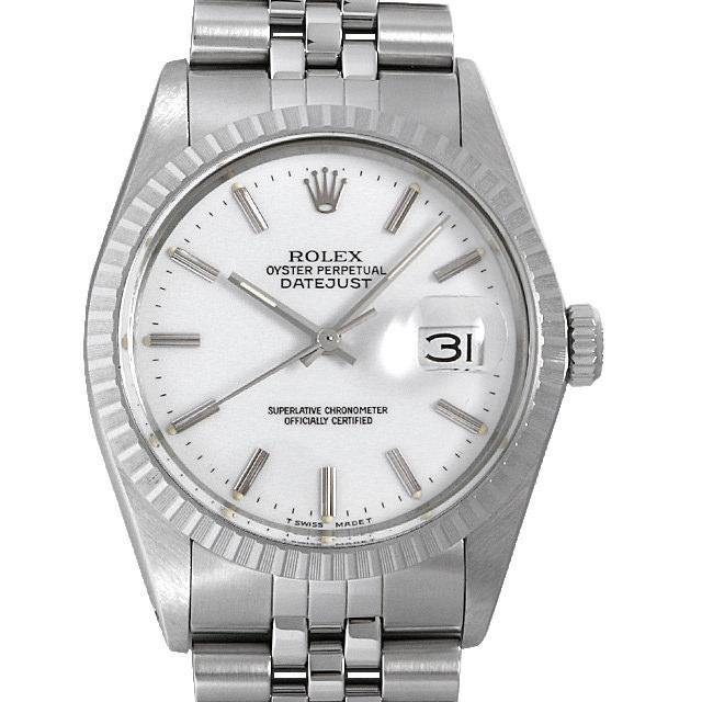 【48回払いまで無金利】ロレックス デイトジャスト 91番 16030 ホワイト/バー メンズ(006XROAU0852)【中古】【腕時計】【送料無料】