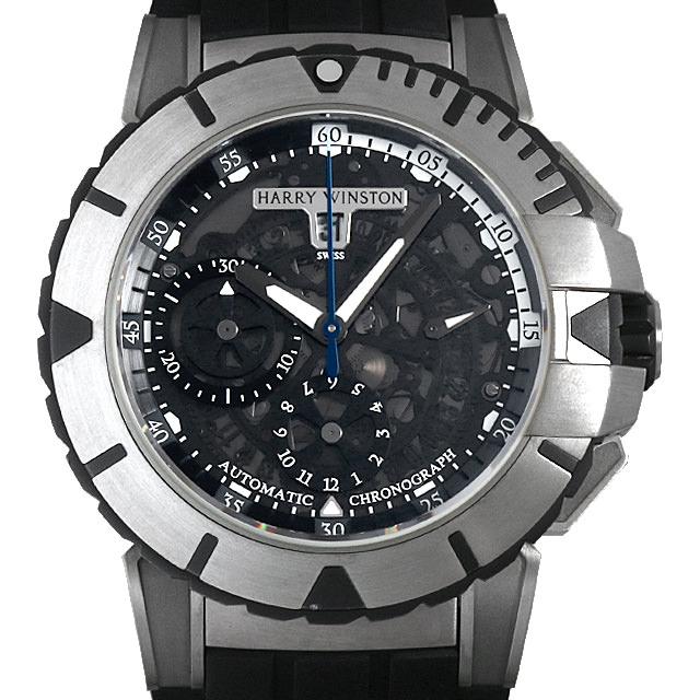 【48回払いまで無金利】ハリーウィンストン オーシャンスポーツ クロノグラフ 世界限定300本 411/MCA44ZC.K2 メンズ(007UHWAU0031)【中古】【腕時計】【送料無料】