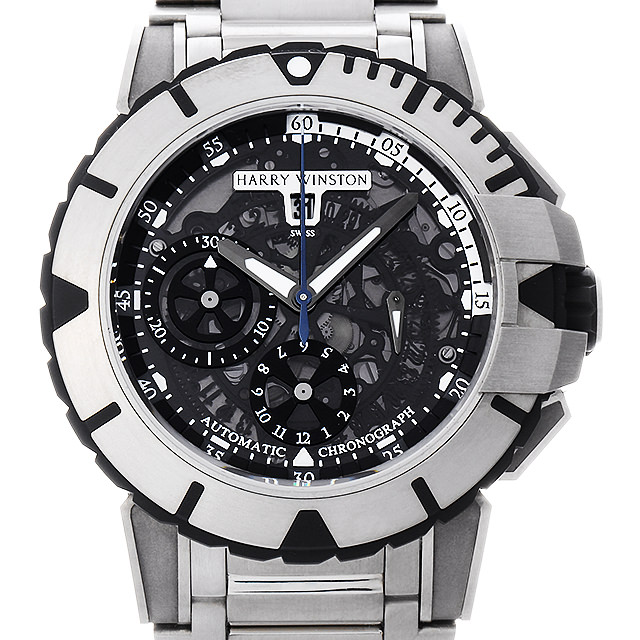 【48回払いまで無金利】ハリーウィンストン オーシャンスポーツ クロノグラフ OCSACH44ZZ003(411/MCA44Z) メンズ(007UHWAU0032)【中古】【腕時計】【送料無料】