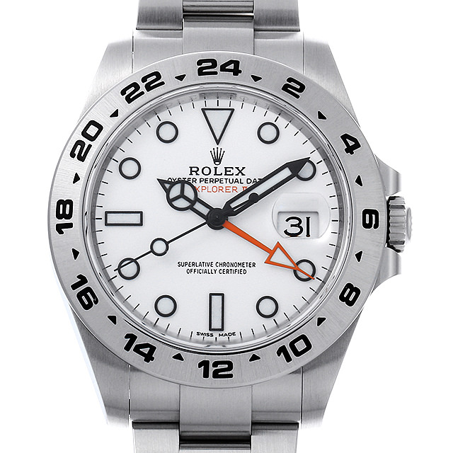 【48回払いまで無金利】ロレックス エクスプローラーII ランダムシリアル 216570 ホワイト メンズ(0087ROAU0148)【中古】【腕時計】【送料無料】