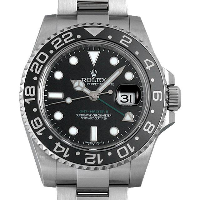 【48回払いまで無金利】ロレックス GMTマスターII ランダムシリアル 116710LN メンズ(0087ROAU0149)【中古】【腕時計】【送料無料】