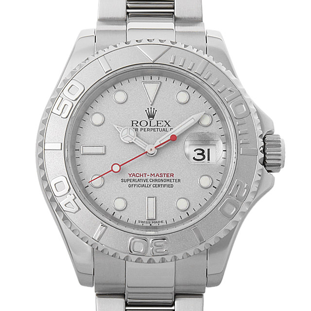 【48回払いまで無金利】ロレックス ヨットマスター ロレジウム A番 16622 シルバー メンズ(008KROAU0110)【中古】【腕時計】【送料無料】