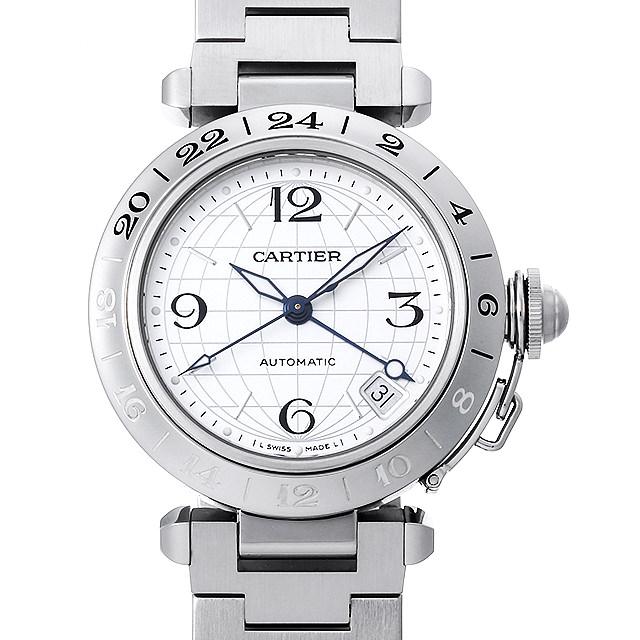【48回払いまで無金利】カルティエ パシャC GMT メリディアン W31078M7 ボーイズ(ユニセックス)(008WCAAU0134)【中古】【腕時計】【送料無料】
