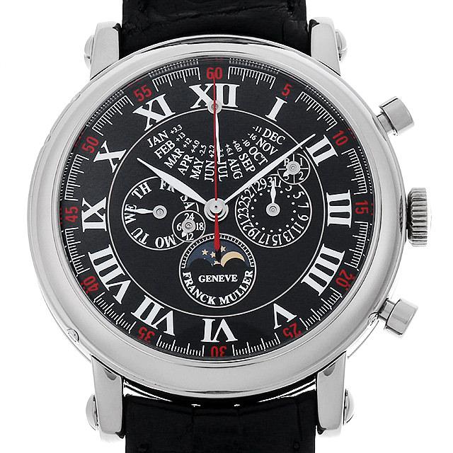 フランクミュラー パーペチュアルカレンダー レトログラード クロノグラフ 世界限定50本 7008CC QP E I WG メンズ(05NWFRAU0001)【中古】【腕時計】【送料無料】