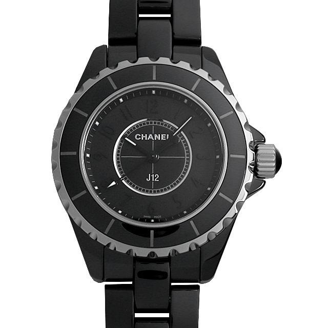 【48回払いまで無金利】シャネル J12 インテンスブラック H3828 レディース(0A89CHAU0005)【中古】【腕時計】【送料無料】