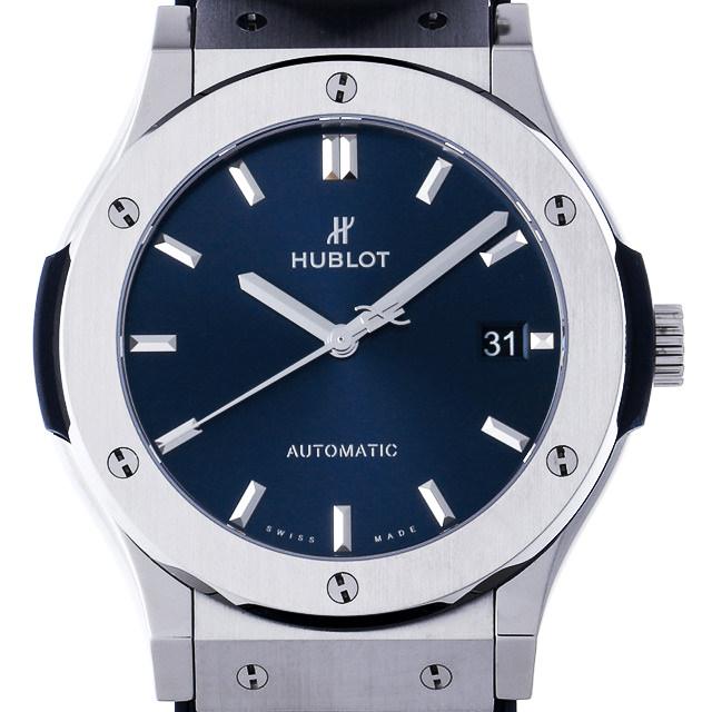 【48回払いまで無金利】ウブロ クラシックフュージョン チタニウム ブルー 511.NX.7170.LR メンズ(0DF7HBAU0006)【中古】【腕時計】【送料無料】