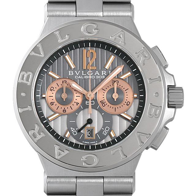 【48回払いまで無金利】ブルガリ ディアゴノ カリブロ303 DG42C14SWGSDCH メンズ(0IC6BVAU0001)【中古】【腕時計】【送料無料】