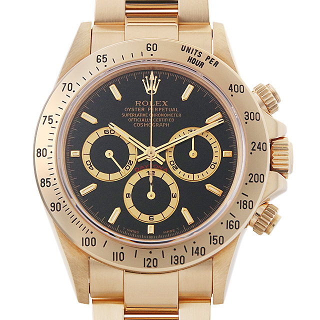 【48回払いまで無金利】ロレックス コスモグラフ デイトナ T番 16528 ブラック メンズ(0IS3ROAU0002)【中古】【腕時計】【送料無料】