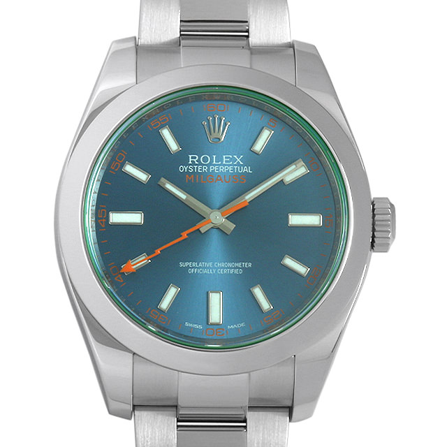 【48回払いまで無金利】SALE ロレックス ミルガウス Zブルー 116400GV メンズ(0IYMROAU0001)【中古】【腕時計】【送料無料】