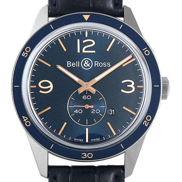 【48回払いまで無金利】ベル&ロス ヴィンテージBR123 アエロナバル BRV123-BLU-ST/SCA メンズ(0J84BOAU0001)【中古】【腕時計】【送料無料】