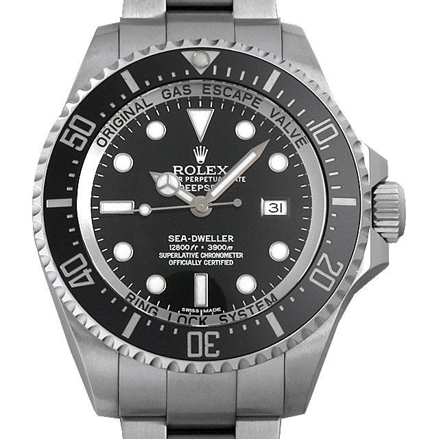 ロレックス ディープシー G番 116660 ブラック/マークIIダイアル メンズ(0014ROAU0153)【中古】【腕時計】【送料無料】
