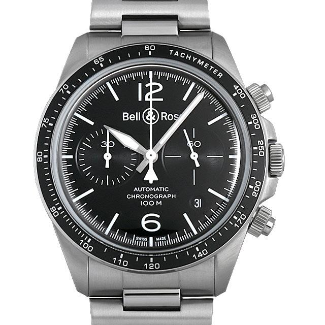 【48回払いまで無金利】ベル&ロス ヴィンテージ BRV2-94 ブラックスティール BRV294-BL-ST/SST メンズ(0671BOAN0007)【新品】【腕時計】【送料無料】