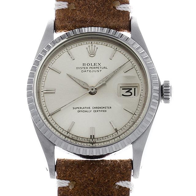 ロレックス デイトジャスト Cal.1570 23番 1603 シルバー/バー/アルファ針 メンズ(007UROAA0076)【アンティーク】【腕時計】【送料無料】