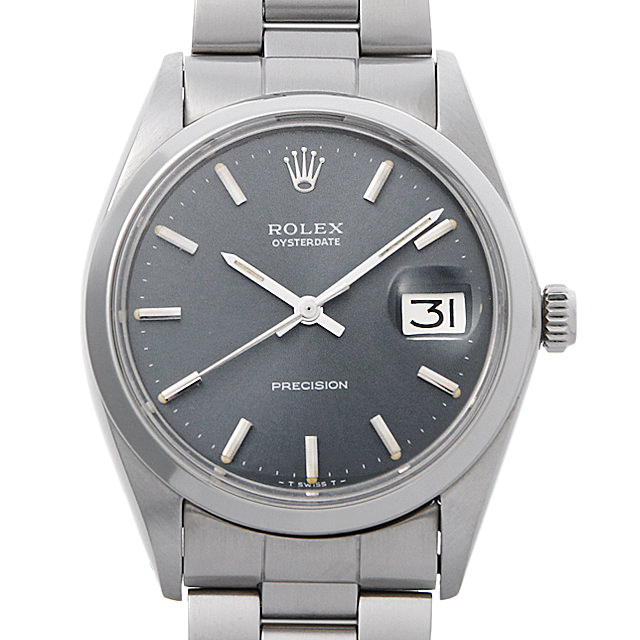 【48回払いまで無金利】ロレックス オイスターデイト プレシジョン Cal.1225 27番 6694 ブルーグレー/バー メンズ(007UROAA0086)【アンティーク】【腕時計】【送料無料】