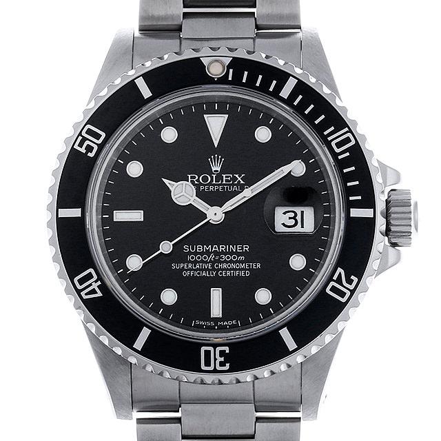ロレックス サブマリーナ デイト R番 168000 トリプルゼロ メンズ(007UROAU0419)【中古】【腕時計】【送料無料】